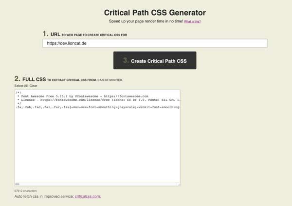 Elementor PageSpeed: Critical CSS nutzen 3