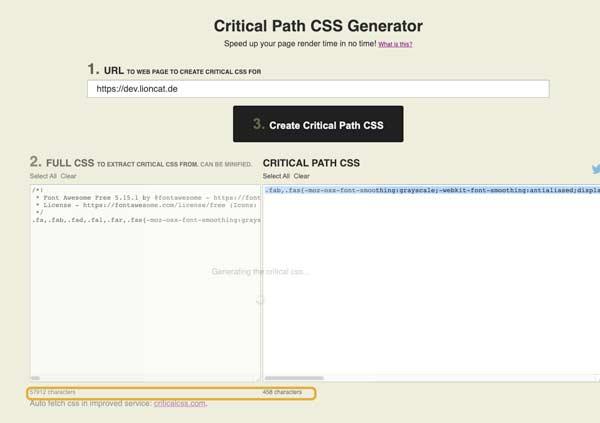 Elementor PageSpeed: Critical CSS nutzen 4