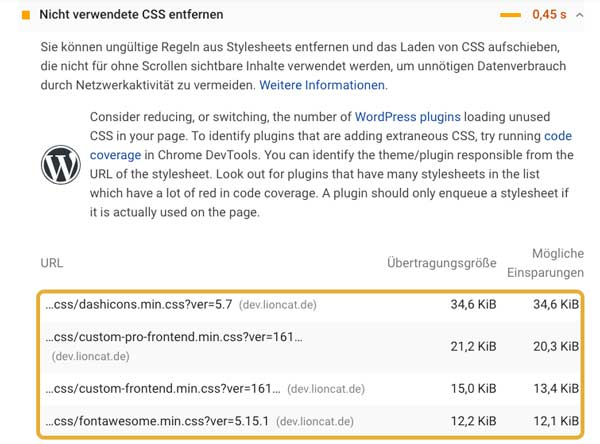 Elementor PageSpeed: Critical CSS nutzen 1