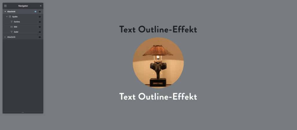 Text-Outline-Effekt mit Elementor 3