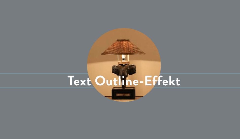 Text-Outline-Effekt mit Elementor 5