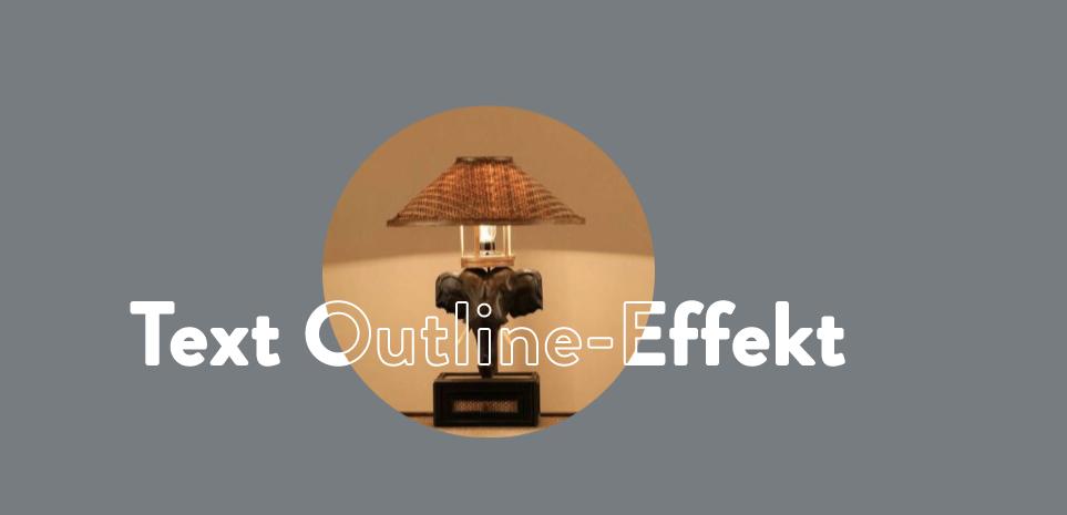 Text-Outline-Effekt mit Elementor 7